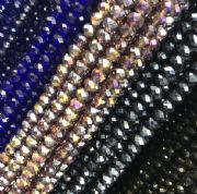 3mm Faceted Glass Rondelle Beads